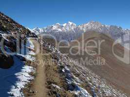 Foot-path from Muktinath to Jomosom