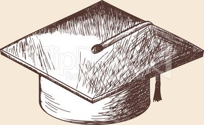 Graduation cap  sketch