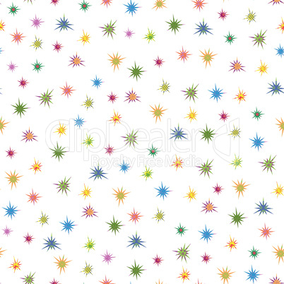 Colourful stars seamless pattern