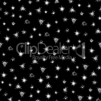 Black and white stars seamless pattern