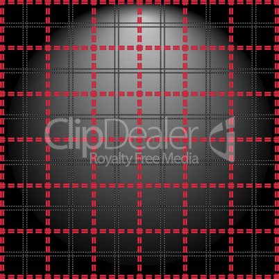 Red grid on a lighting background