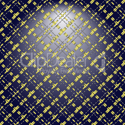 Yellow grid on a lighting background