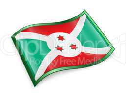 Burundi Flag icon.