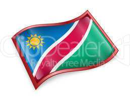 Namibia flag icon.