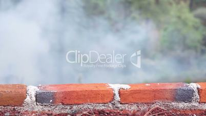 Brick Wall With Smoky Background Dolly