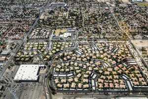 Las Vegas Stadt Wohngebiet von oben