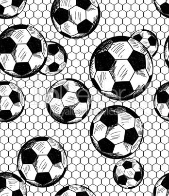 Football (soccer) theme seamless pattern
