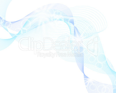 Abstract background in water wave style