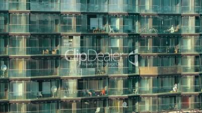 Modern multistorey apartment block