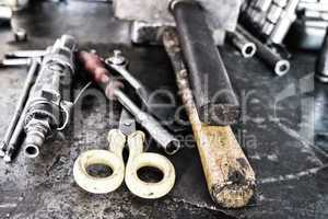 Car mechanician workshop tools