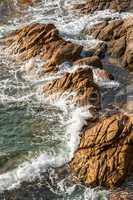 Detail of the Spanish coastal