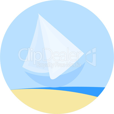 icon of simple sailboat