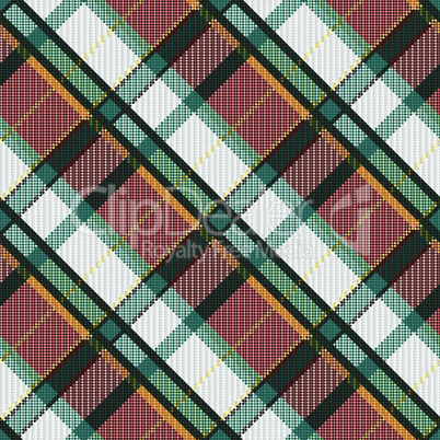 Checkered diagonal tartan seamless texture