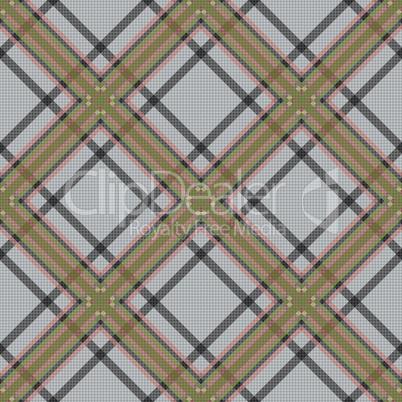Diagonal tartan brown and gray fabric seamless texture