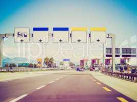 Retro look Motorway