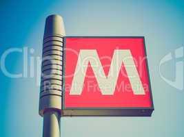 Retro look Subway sign