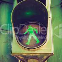 Retro look Traffic light sign