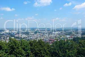 view to Lvov city from bird's-eye view