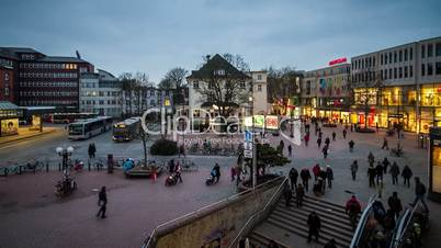 Hamburg Altona place - DSLR time lapse