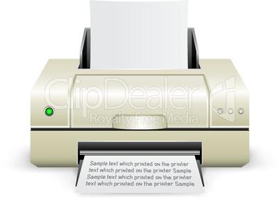 white printer icon
