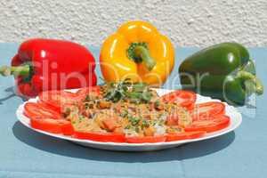 Geflügelgeschnetzeltes mit Reis
