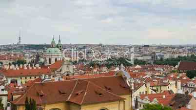 time lapse pan historic city roofs of prague 11391