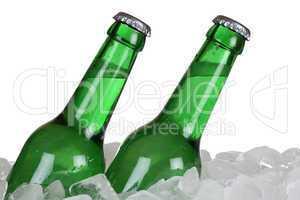 Bierflaschen auf Eis