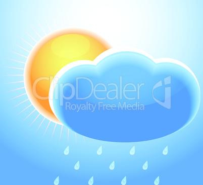 Cloud sun and rain