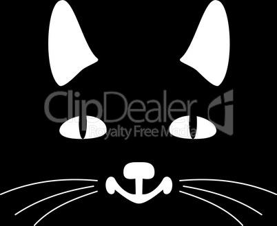 Head of a black cat