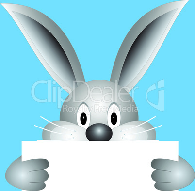 Bunny with blank sheet