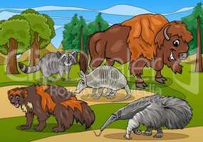 mammals animals cartoon illustration