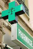 French pharmacy sign