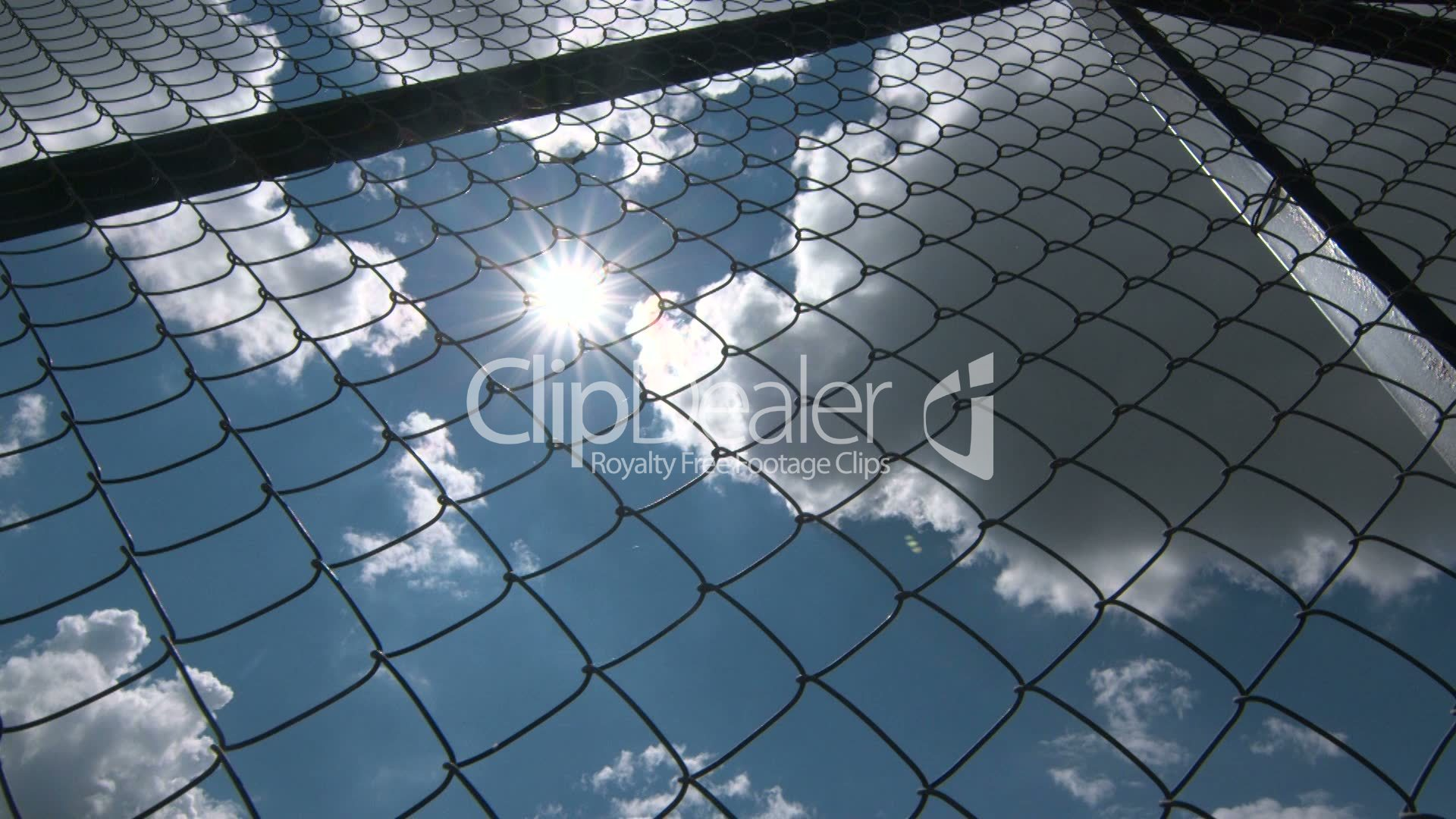 Sun shining through the chain link iron wire fencing: Royalty-free ...