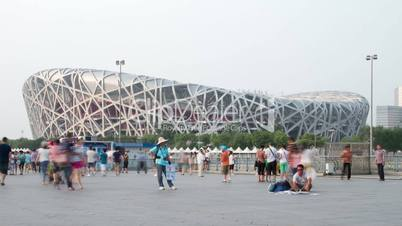 Beijing Olympic park at daytime HD.