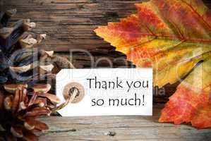 Autumn Tag with Thank You so much