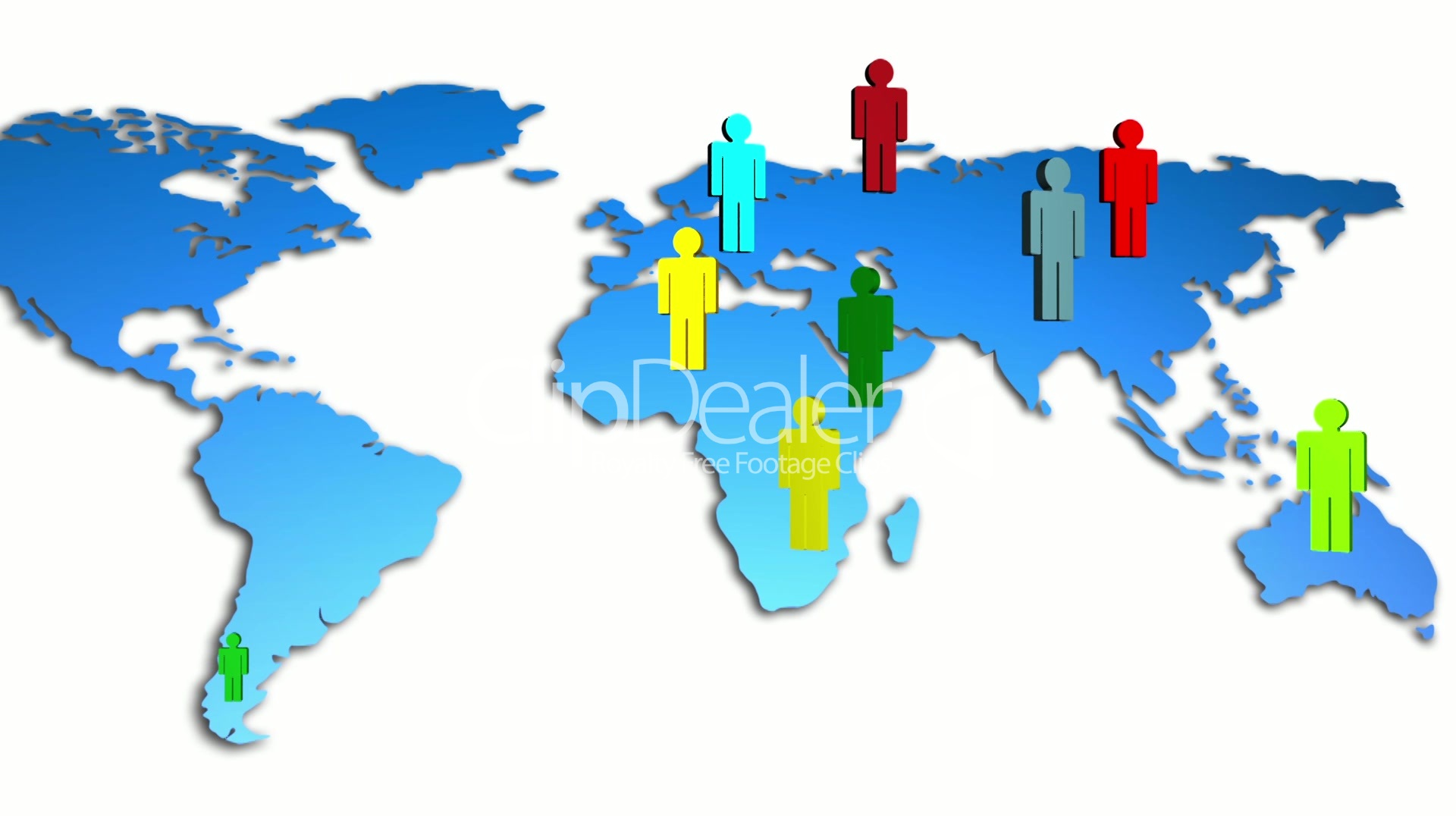 World map colorful diverse people growing royalty free video and world royalty free videos gumiabroncs Images