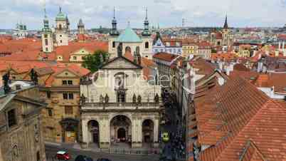 tilt historic roofs and towers of prague time lapse 11423