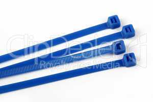 Cable ties in blue