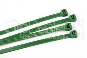 Cable ties in green