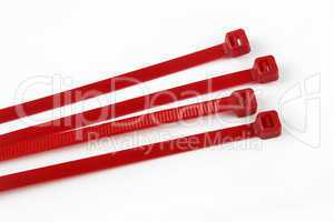 Cable ties in red