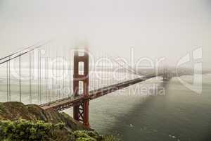 Golden Gate Brücke im Nebel, San Francisco