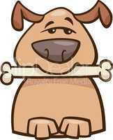 mood busy dog cartoon illustration