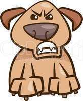mood furious dog cartoon illustration
