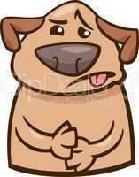mood sick dog cartoon illustration