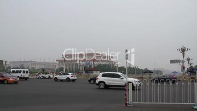 Tiananmen square at daytime HD.
