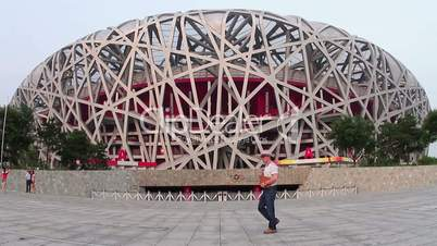 Beijing Olympic park at daytime. HD
