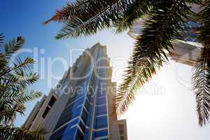 DUBAI, UAE - SEPTEMBER 10: The view on two towers of JW Marriott