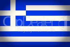 Retro look Greece flag