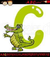 letter c for crocodile cartoon illustration