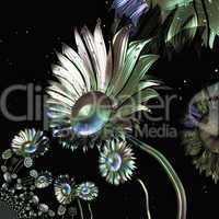 Digital visualization of flowers